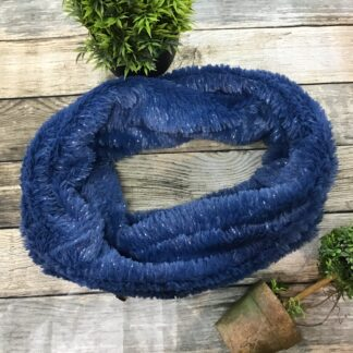Blue snood fluffy Chiron Equestrian Lampeter
