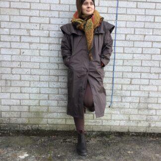 long brown waterproof coat chiron lampeter
