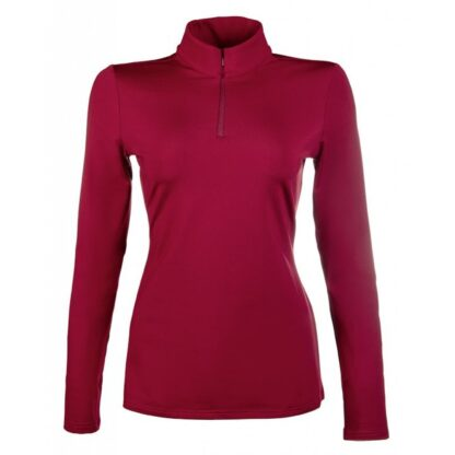 hkm base layer wine red Lampeter chiron equestrian