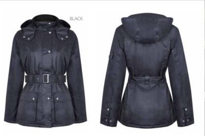 Clova country estate ladies waterproof jacket black chiron equestrian