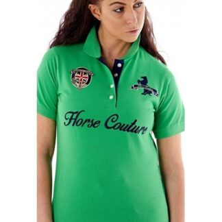 Horse couture ladies green polo Chiron Equestrian Lampeter