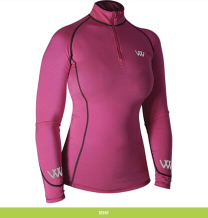 woof wear base layer berry