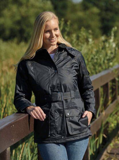 Country estate clove ladies waterproof jacket chiron equestrian Lampeter