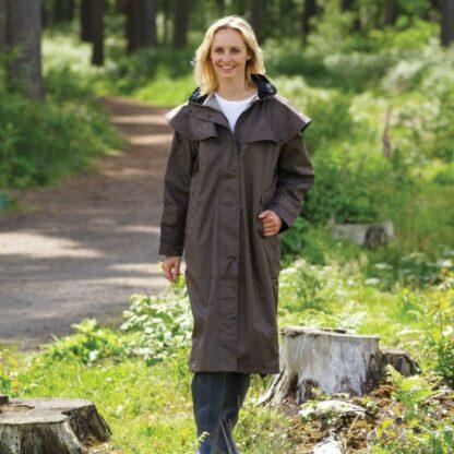 Sandringham ladies Long waterproof coat Chiron Equestrian Lampeter