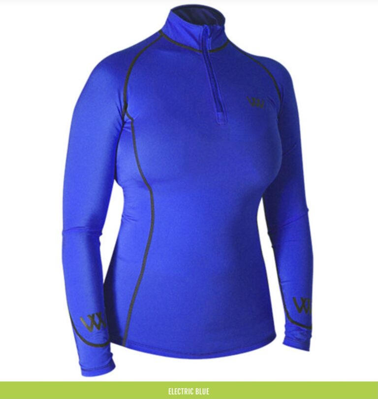 electric blue base layer woof wear chiron equestrian lampeter