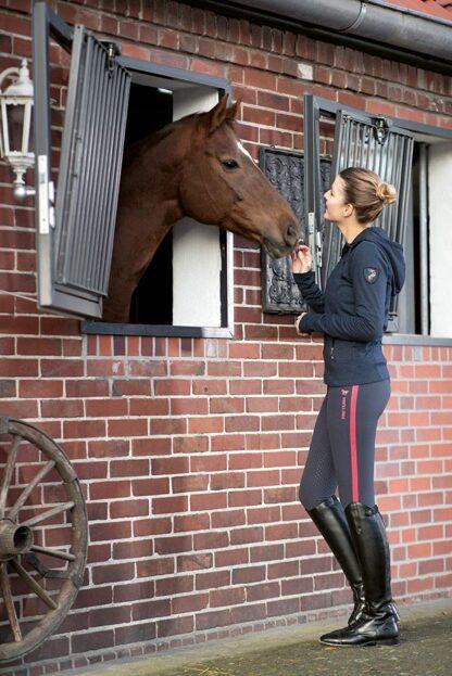 Hkm Lauria garrelli navy sweat jacket Chiron Equestrian Lampeter