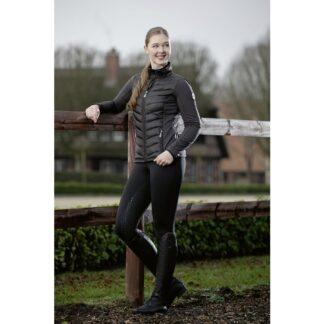 ladies HKM grey prag quilted jacket chiron equestrian lampeter