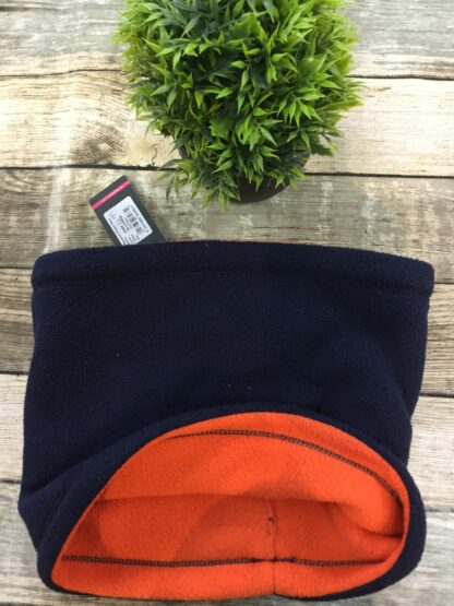 Orange Hy signature neck warmer fleece chiron equestrian