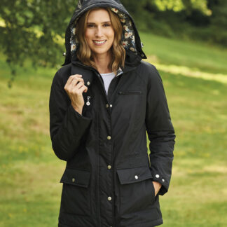 Mayfield waterproof coat black Chiron Equestrian Lampeter