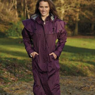 long waterproof coat purple chiron equestrian lampeter