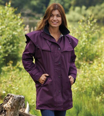 waterproof coat purple Chiron Lampeter