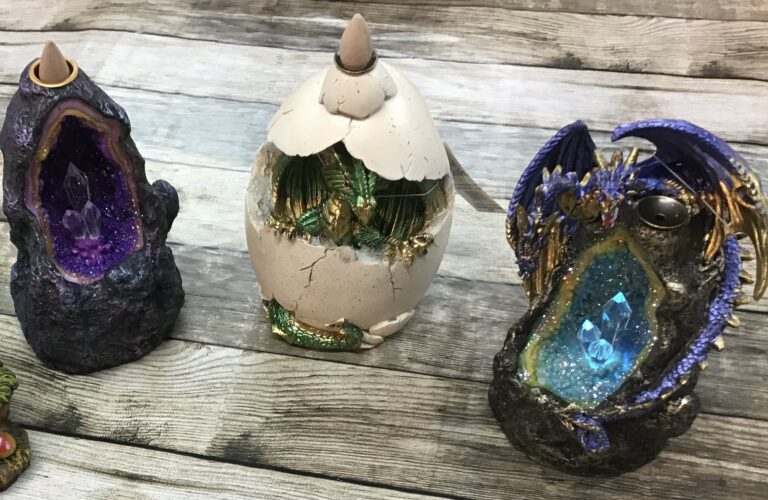 Backflow incense burners with Led lights gifts Chiron equestrian clothing lampeter