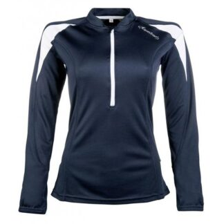 HKM ladies long sleeve base layer navy and white chiron equestrian Lampeter