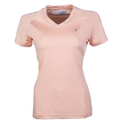 ladies hkm short sleeve tshirt apricot chiron equestrian Lampeter
