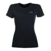 hkm ladies black t-shirt red and silver logo short sleeve chiron equestrian clothing Lampeter